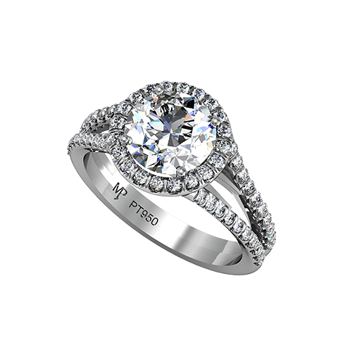 @Mark Van Der Voort Patterson Jewelry @MP_Jewelry -- Halo double-shank pave diamond engagement ring-- Gorgeous!
