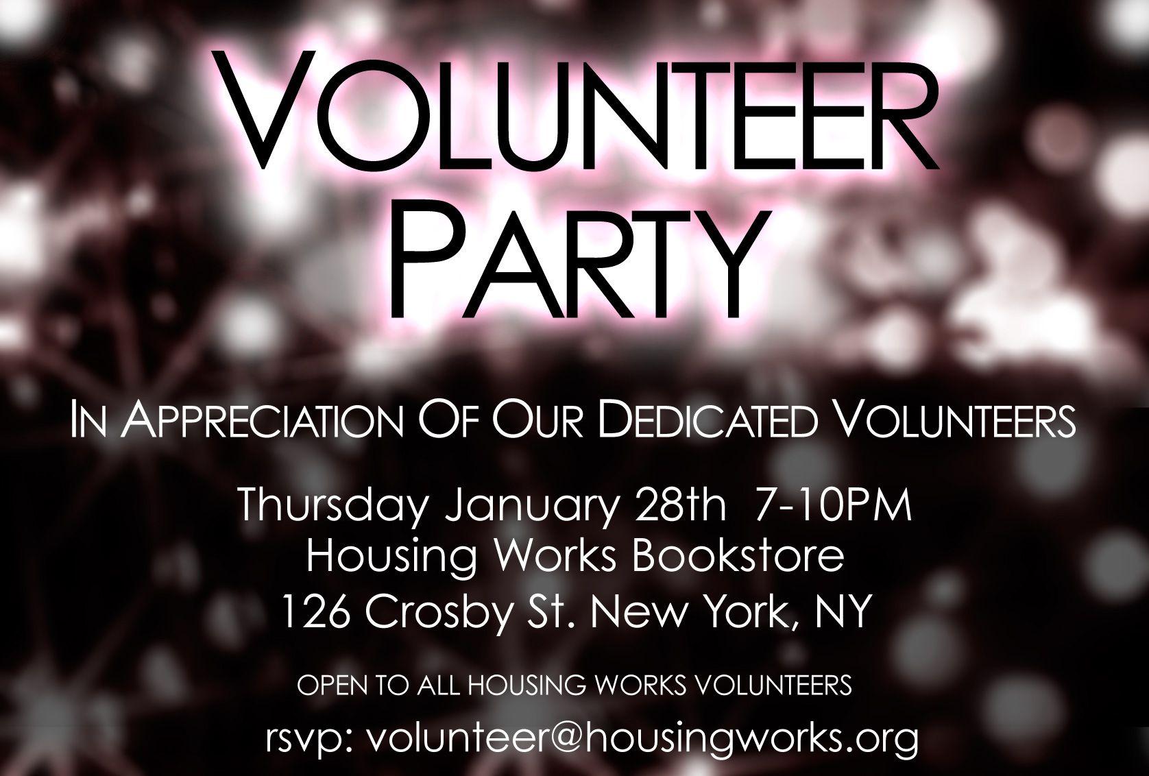 Invite with images volunteer appreciation party