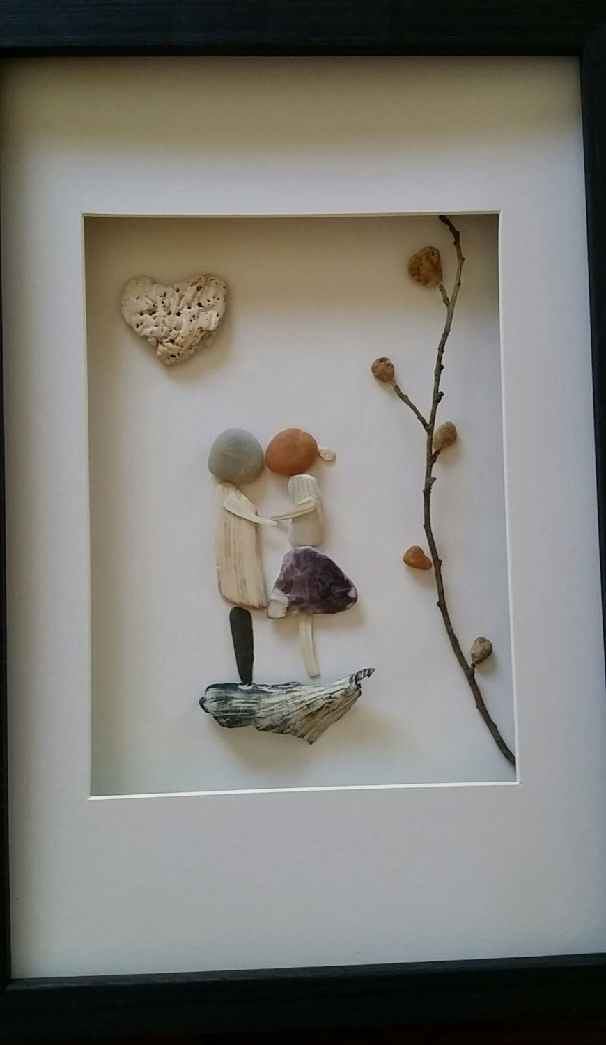 Pebble Art Sea Shells Wedding Unique Gift