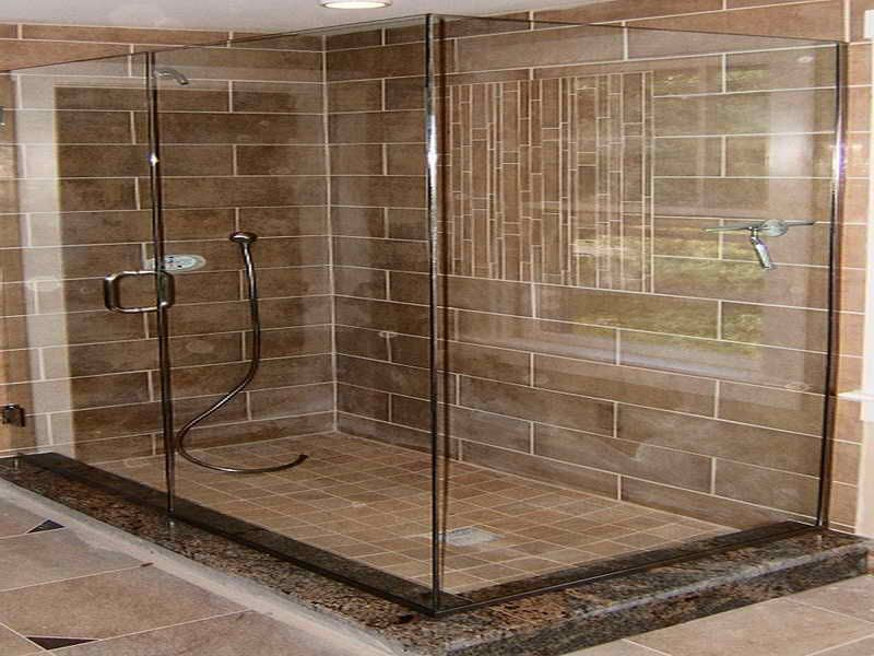 Tiled Bathrooms Pictures ceramic tile looks like wood planks around shower | sande's