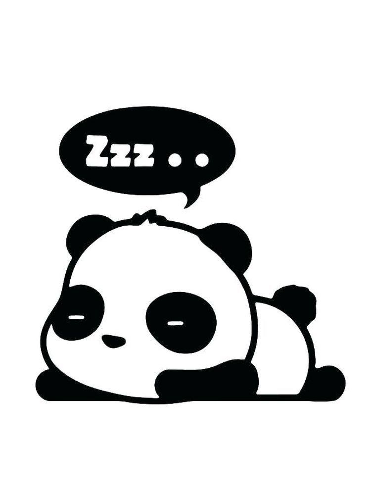 Baby Panda Bear Coloring Pages Panda Is A China National Treasure Its Distinct Black And White Coat Is Panda Special T Sleeping Panda Cartoon Panda Panda Art