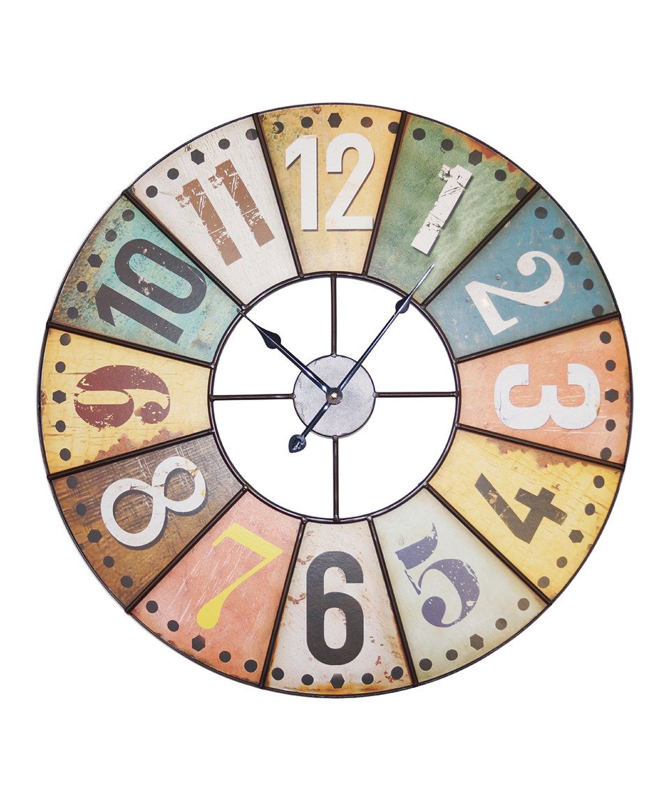 This color number round wall clock by vip international is perfect