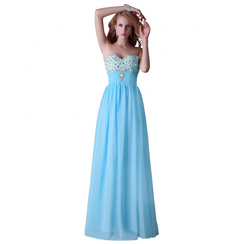 1cc0a52ce218 Modré spoločenské šaty CL3524