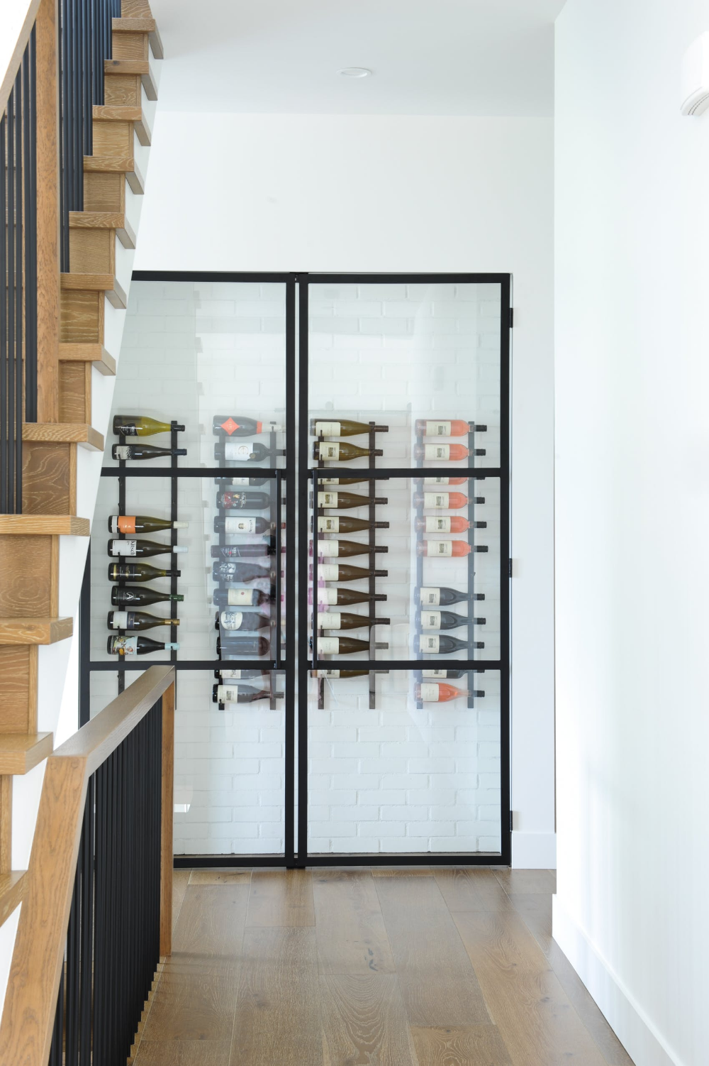Hall And Wine Room At Our Modern Kelowna Project By Kerrisdale