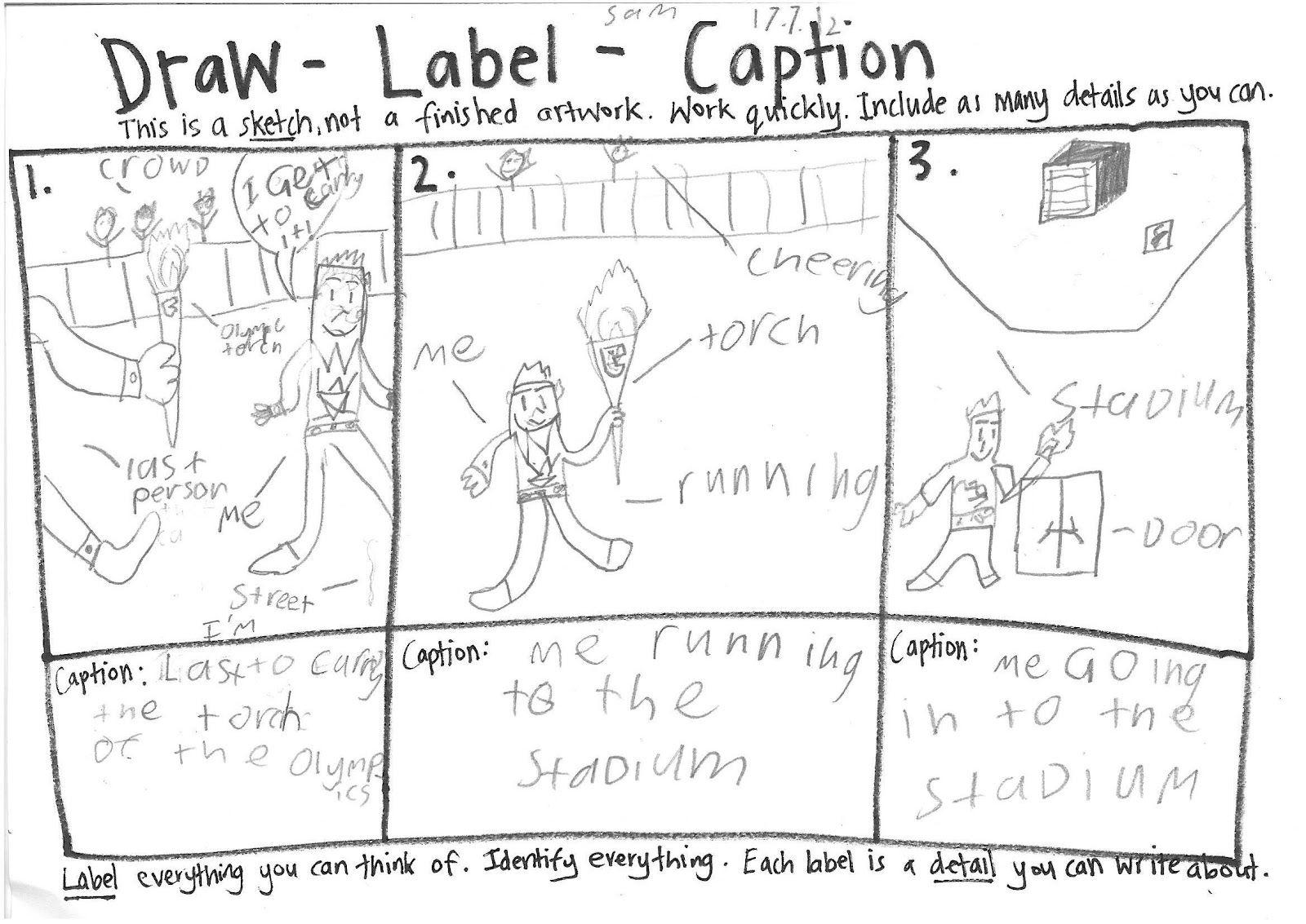 Draw Label Caption