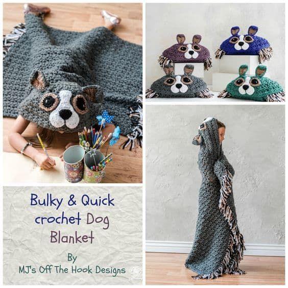 Crochet Hooded Blanket Pattern Pinterest Top Pins | Mantas tejidas ...