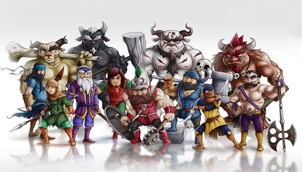 Mythical Warriors Fighting Game Character Design