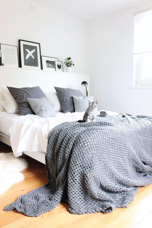 neue Decke im Schlafzimmer Schlafzimmer, Deckchen und - schlafzimmer weiß grau