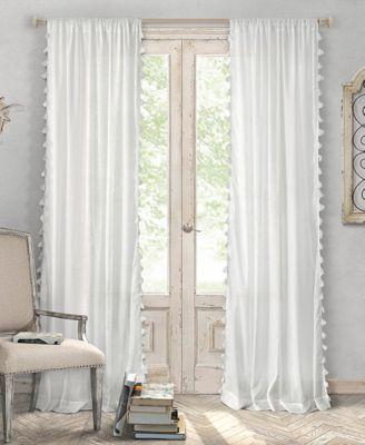 Elrene Bianca Cotton 52 X 84 Window Panel White Paneling Panel