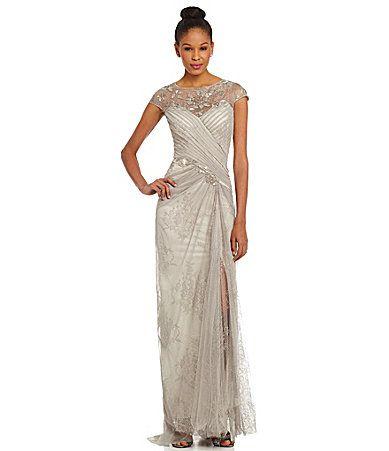 Tadashi Illusion Beaded Yoke Gown #Dillards   gowns   Pinterest ...