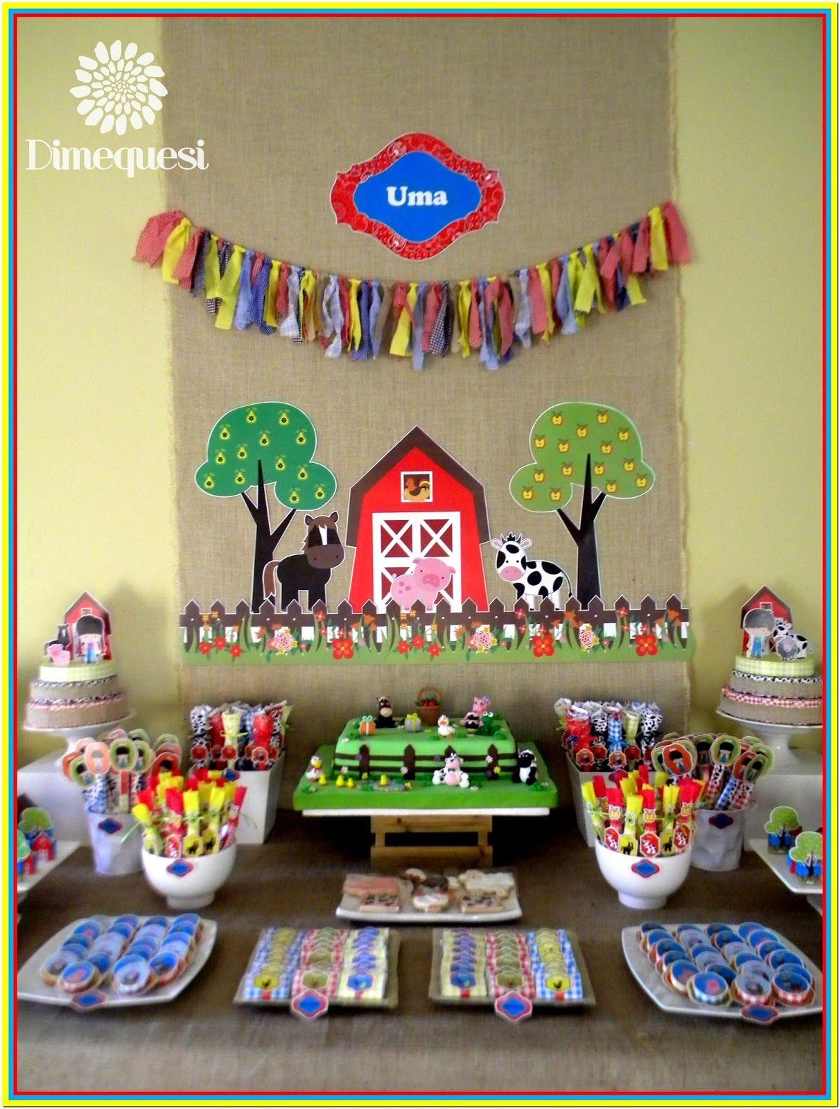 also un increible candy bar con todos los animales de la granja rh pinterest