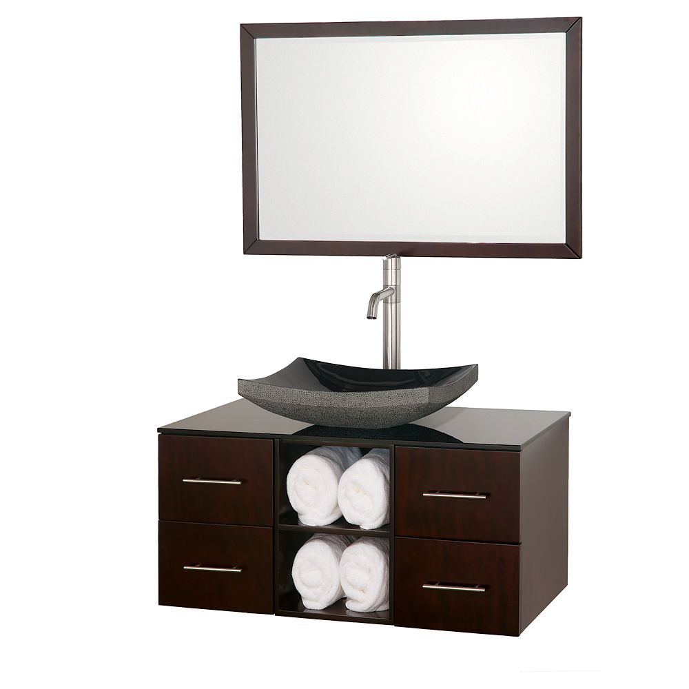Wyndham Collection Abba Espresso 36 Inch Single Bathroom Vanity