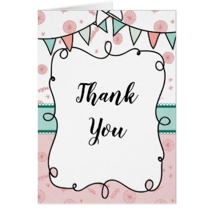 Shabby Chic Thank You Card Thanksgiving Greeting Cards Family