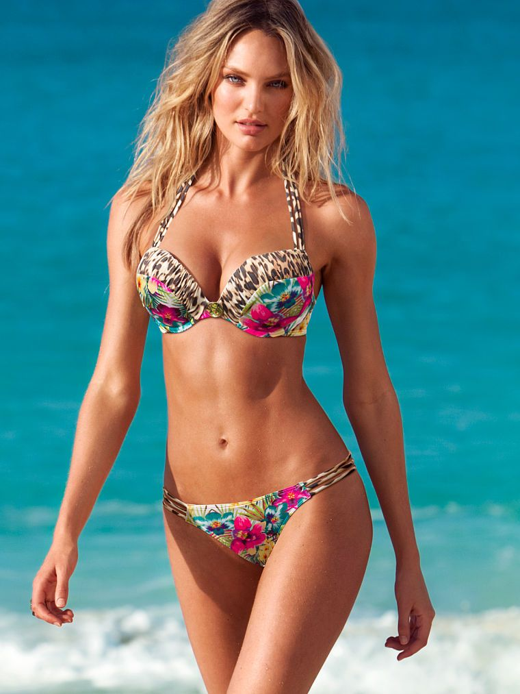 9063d347388a1 Strappy Add-2-Cups Push-Up Halter Bikini - Bombshell Swim Tops - Victoria's  Secret - Candice Swanepoel