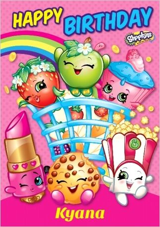 image regarding Shopkins Birthday Card Printable identify Funky Pigeon Crank out Greetings Playing cards Items On the internet Kyana