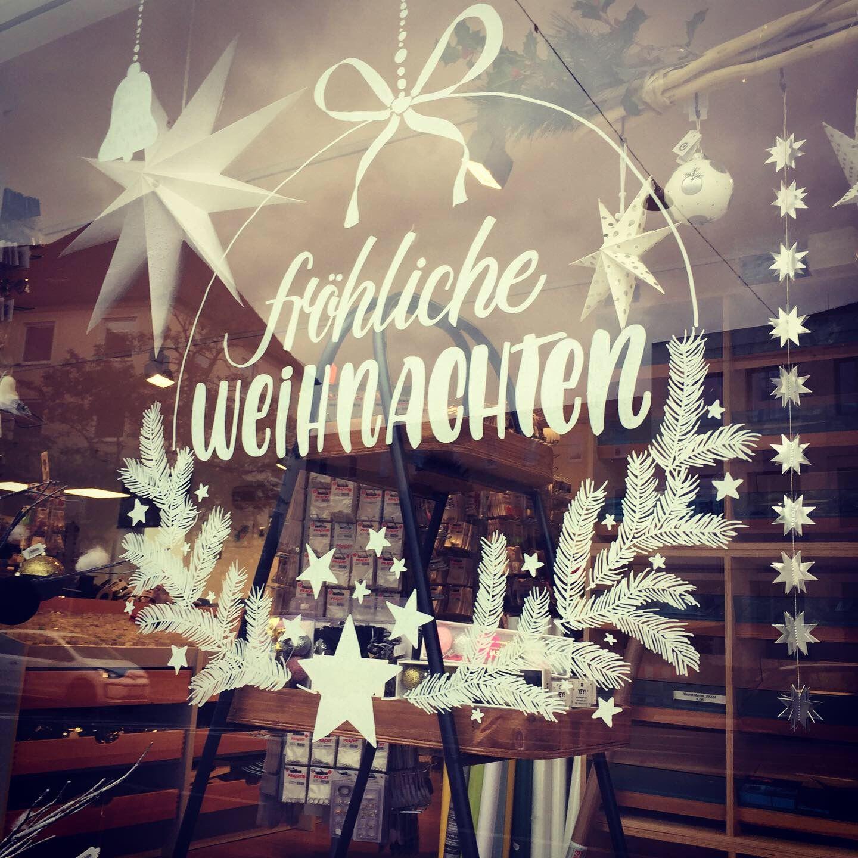 Fröhliche Weihnachten mit Kreidestift - Weihnachtliches Fensterlettering
