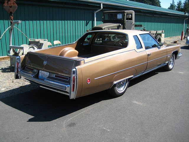 .These were custom built in the 1970s for ranchers who wanted a real Cowboy Cadillac. Note the trim, specifically the vinyl roof. Only a handful of these exist. A nice example of a survivor.