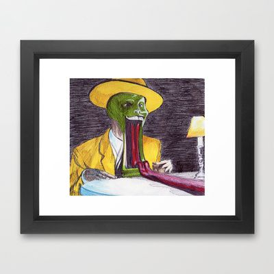 The Mask Framed Art Print by DeMoose - $37.00 Artist Promotion Available Now – Free Shipping + $5 Off Your Items! #funny #cool #film #comedy
