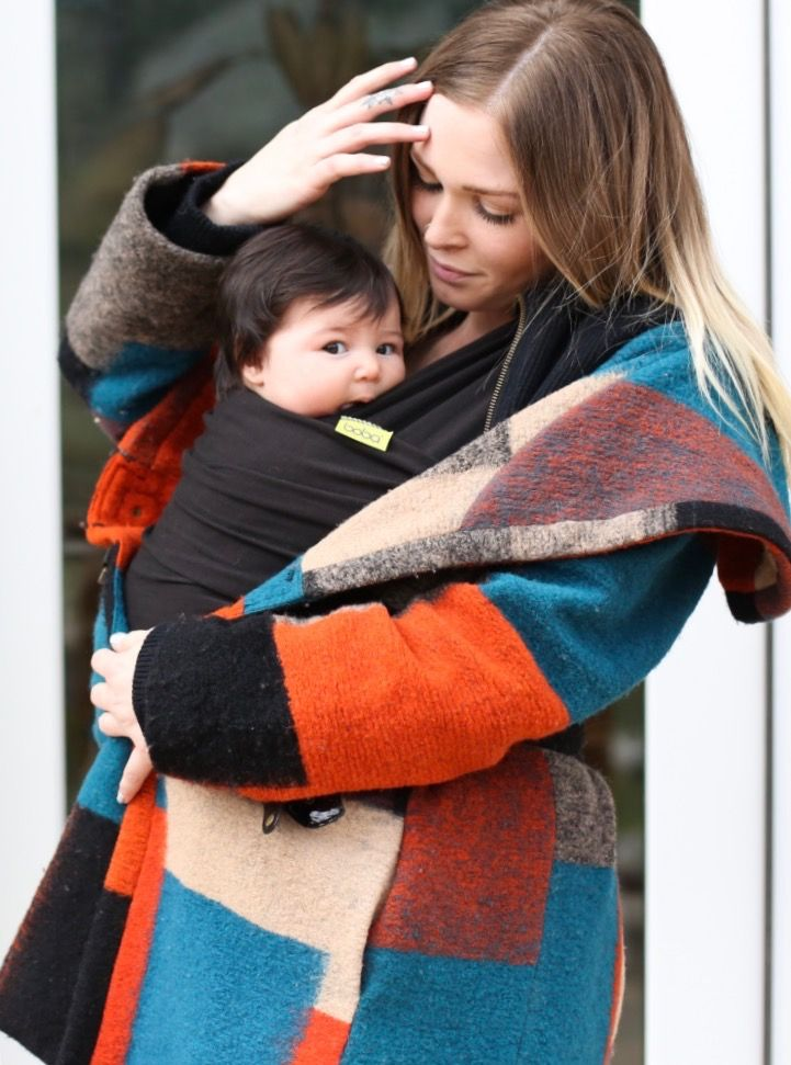 Black Never Fails Knitted Scarf Fashion Mom And Baby