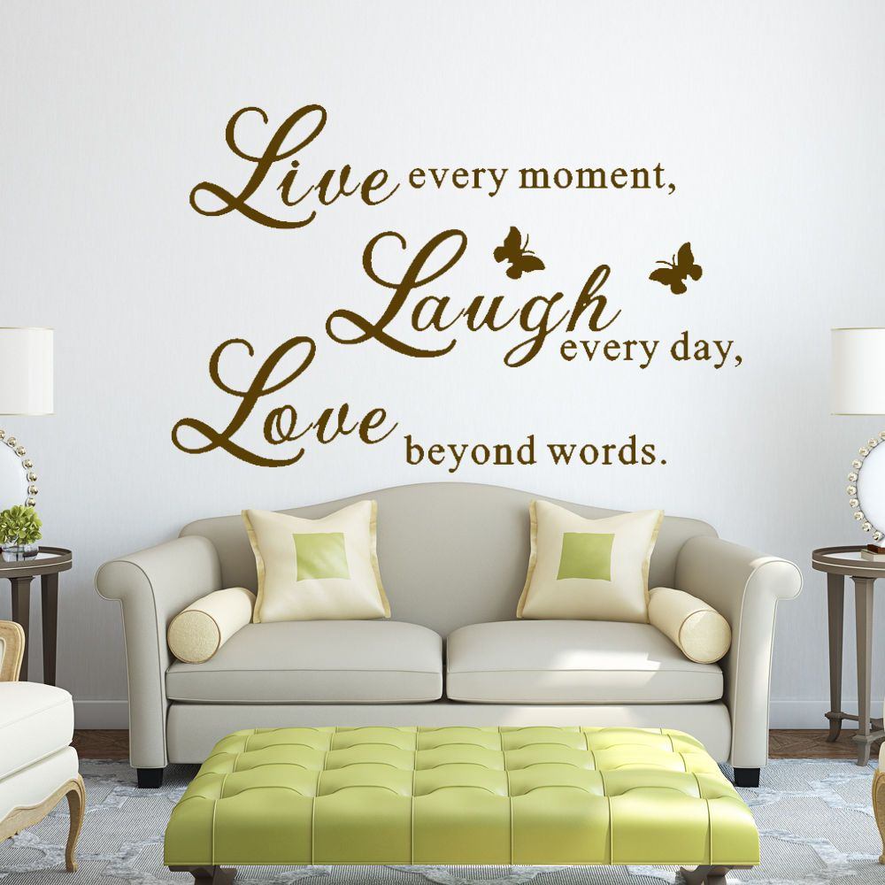 Live Laugh Love Wall Decal Inspired Quote Family Vinyl Living Room Decor Large 14 24 Inspirational Wall Decals Love Wall Wall Stickers Home