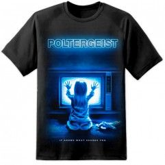 Poltergeist Movie Poster T Shirt - Black