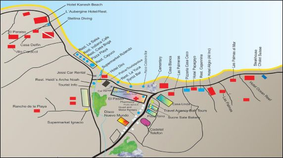 Map of Las Terrenas Dominican Republic Pinterest Dominican