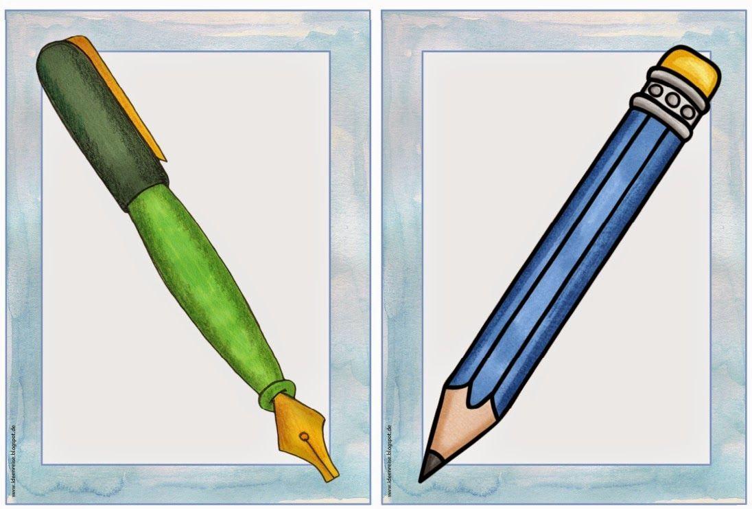 Englisch in der Grundschule Flashcards School things