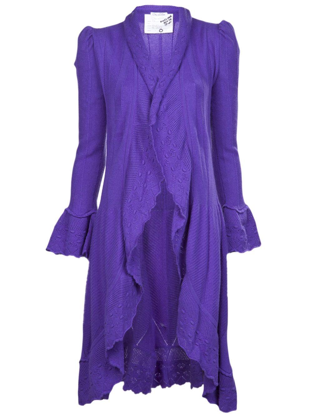 OSCAR DE LA RENTA knit duster cardigan $4274.74 | CARDIGANS AND ...