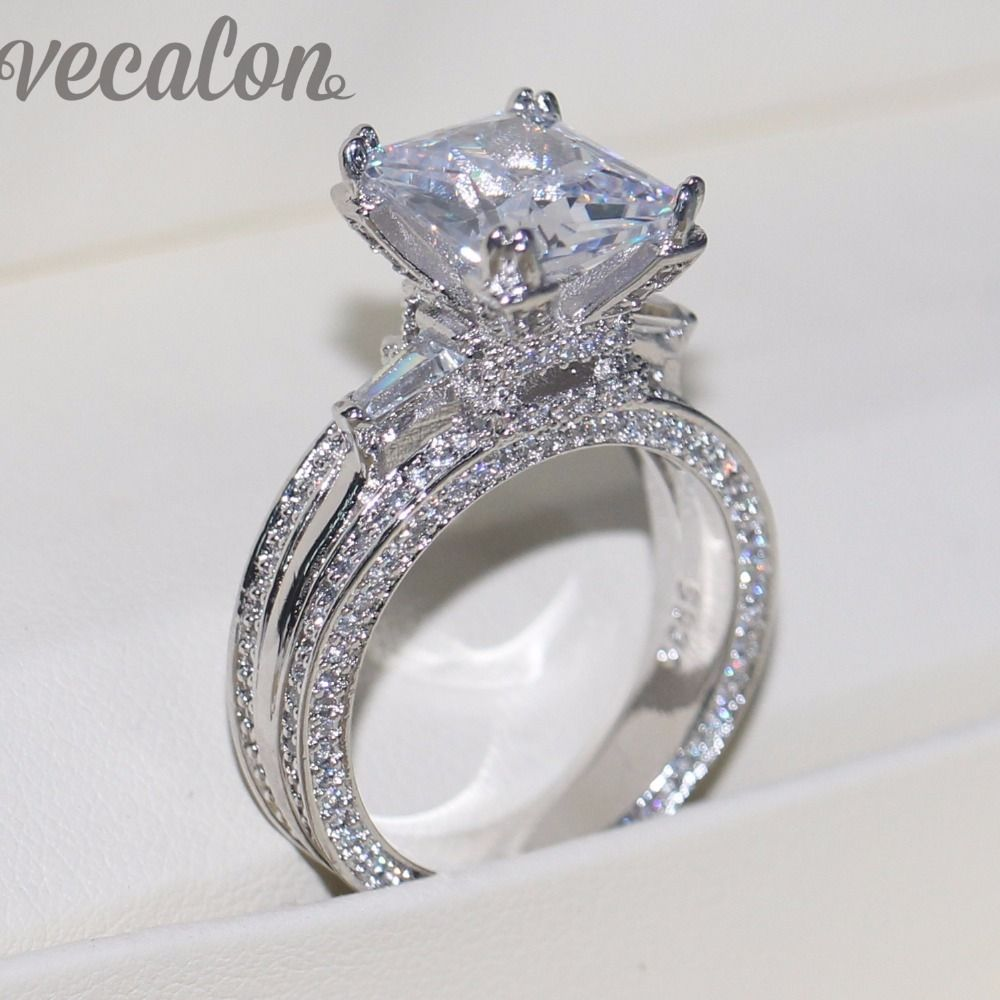 stunning ring vecalon women big - Big Wedding Ring