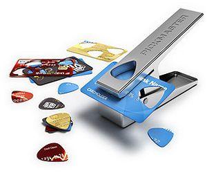 Perforatrice de médiator Pickmaster : planquez vos cartes de crédit !