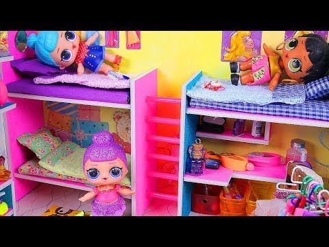 Diy Miniature Doll Bunk Bed Dollhouse Bedroom For Lol Youtube