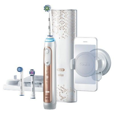 Oral B Genius 8000 Rechargeable Electric Toothbrush Powered By Braun Rose Gold Electronic Toothbrush Brushing Teeth Rechargeable Toothbrush