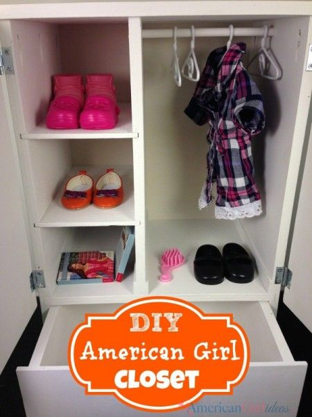 American Girl Closet With Images American Girl Doll Furniture American Girl Furniture American Girl Doll House