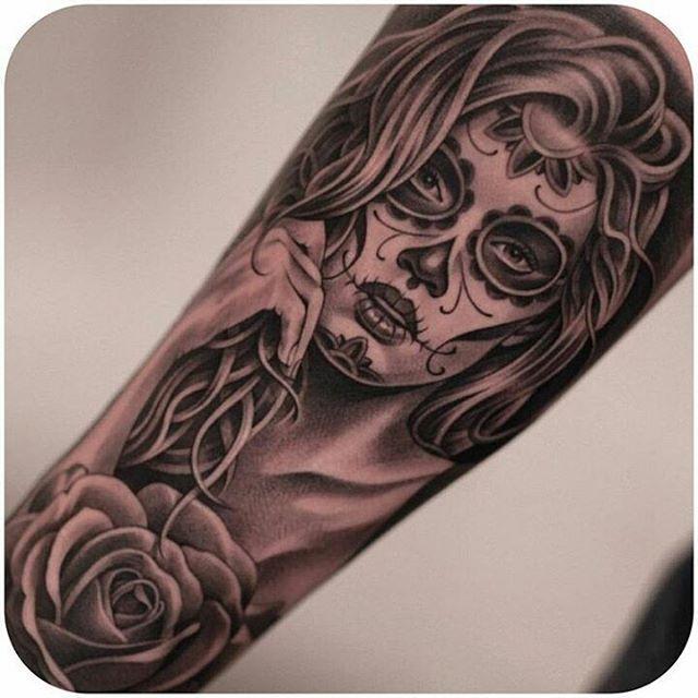 Catrina Mexicana Tattoos90 Tatoo Tatuagens No border=