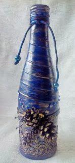 Скрапульки: Новогодняя синяя бутылка