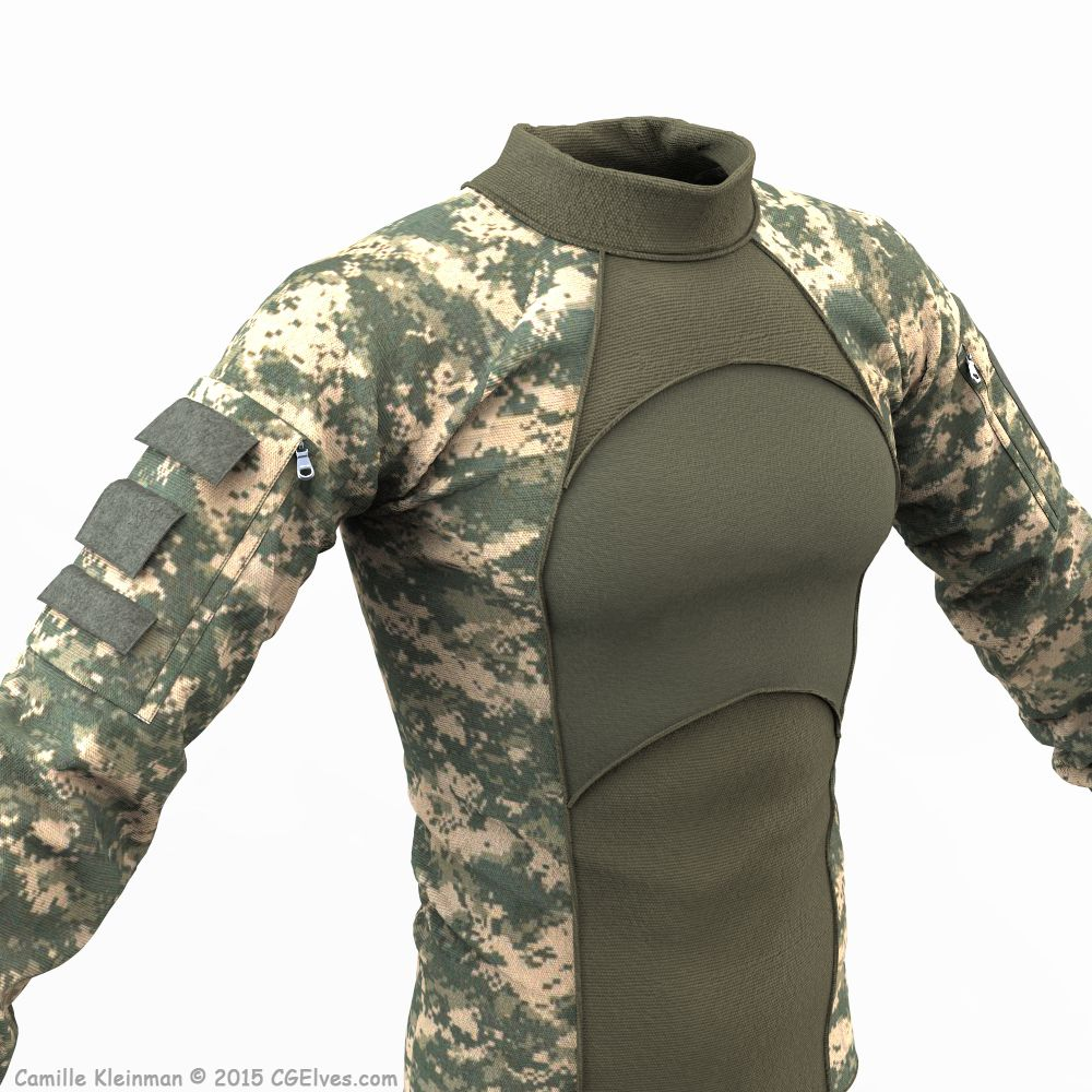 Download Free 3d Army Clothing Combat Shirt Obj Model Cg Elves Military Outfit Army Clothes Combat Shirt