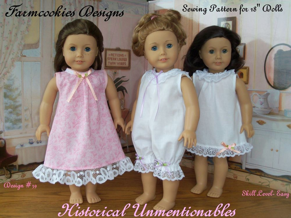 SEWING PATTERN for American Girl Doll by Farmcookies / HISTORICAL ...