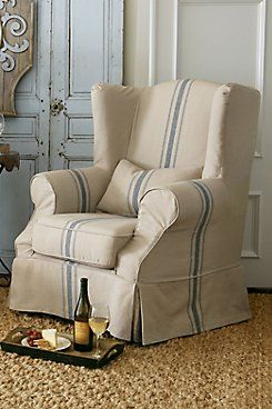 Slipcovered Tristan Chair. Slipcover ChairWingback ...