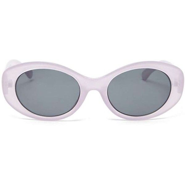 b5f3f1d04167 Forever21 Small Oval Sunglasses ($7.90) ❤ liked on Polyvore featuring  accessories, eyewear, sunglasses, lightweight sunglasses, forever 21  sunglasses, ...