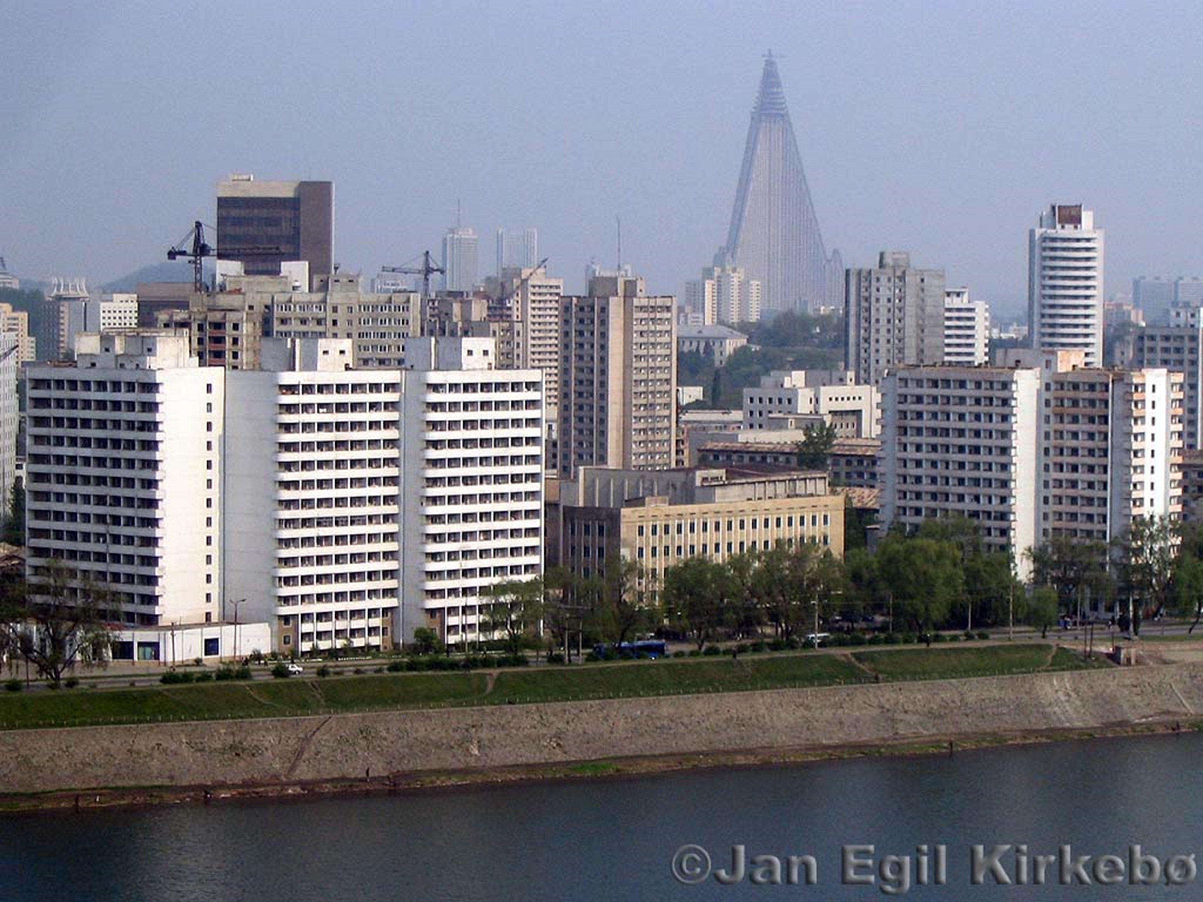 Pyongyang day north korea city river | Asia | North korea