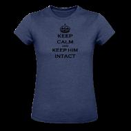 Women's T-Shirts ~ Women's Heather Jersey T-Shirt ~ Keep Calm and Keep Him Intact