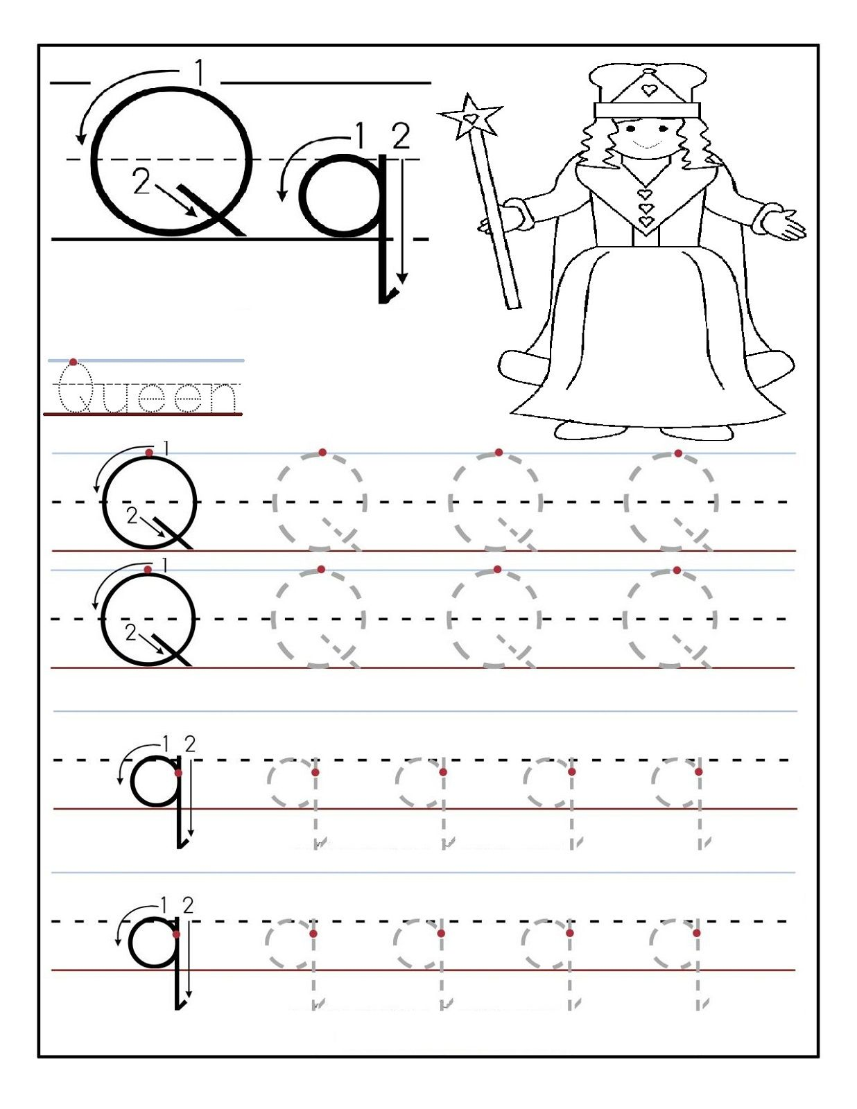 Preschool Alphabet Worksheets Queen