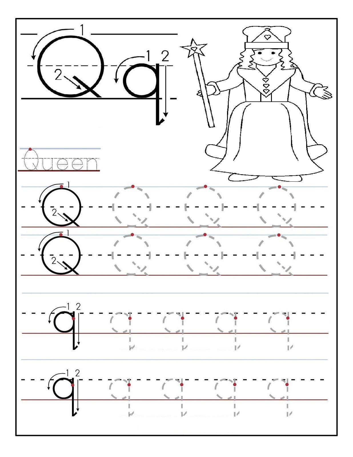 Preschool Alphabet Worksheets Queen