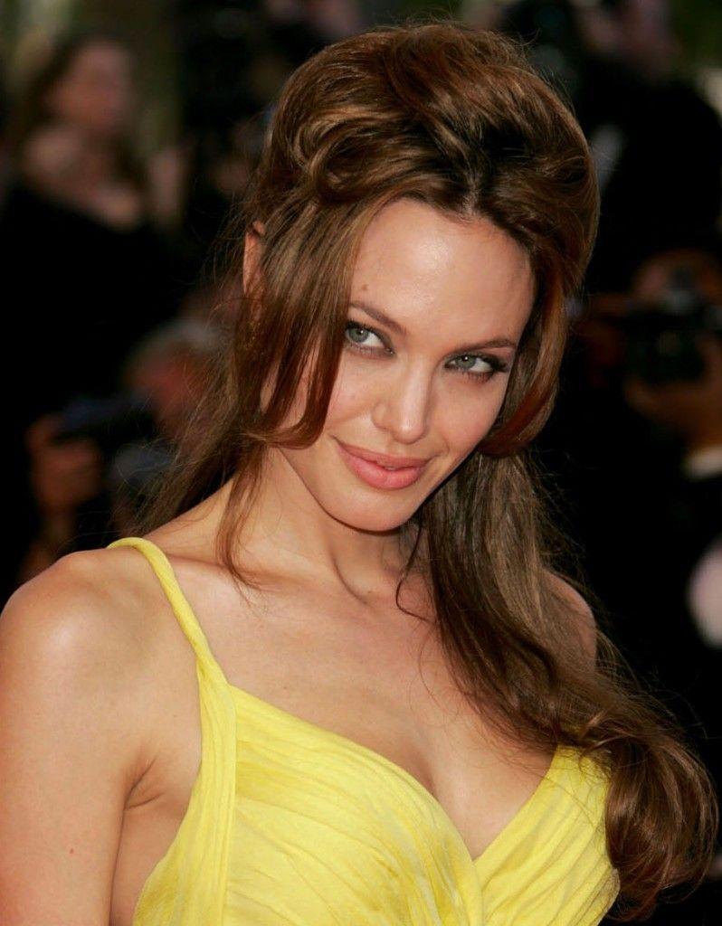 celebrity hairstyles: angelina jolie beautiful hair, angelina