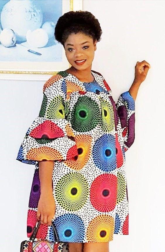 Dites Le Avec Des Fleurs Pagne Wax Maxi Couleurs Colorful Robe Dress