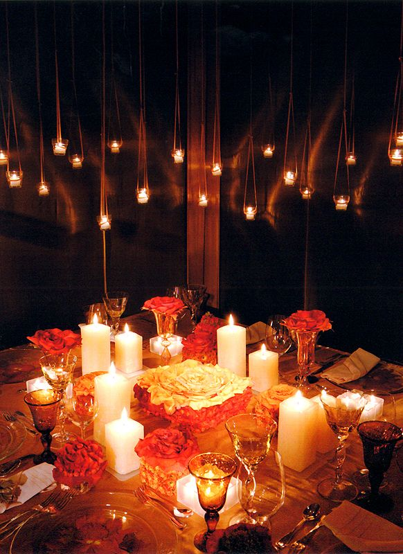 Hanging votives stary starry night table settings candle Best candles for romantic night