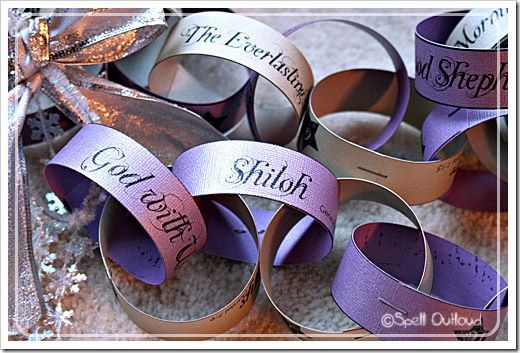 Names of Jesus Advent Chain Names of Jesus chain: Count down the days of December, and learn about Biblical names for Jesus, at the same time!Names of Jesus chain: Count down the days of December, and learn about Biblical names for Jesus, at the same time!