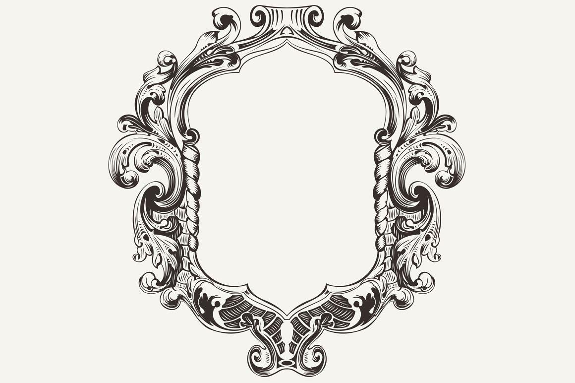 High Ornate Vintage Frame Vector Vintage Frames Vector Vintage Frames Vintage Graphic Design