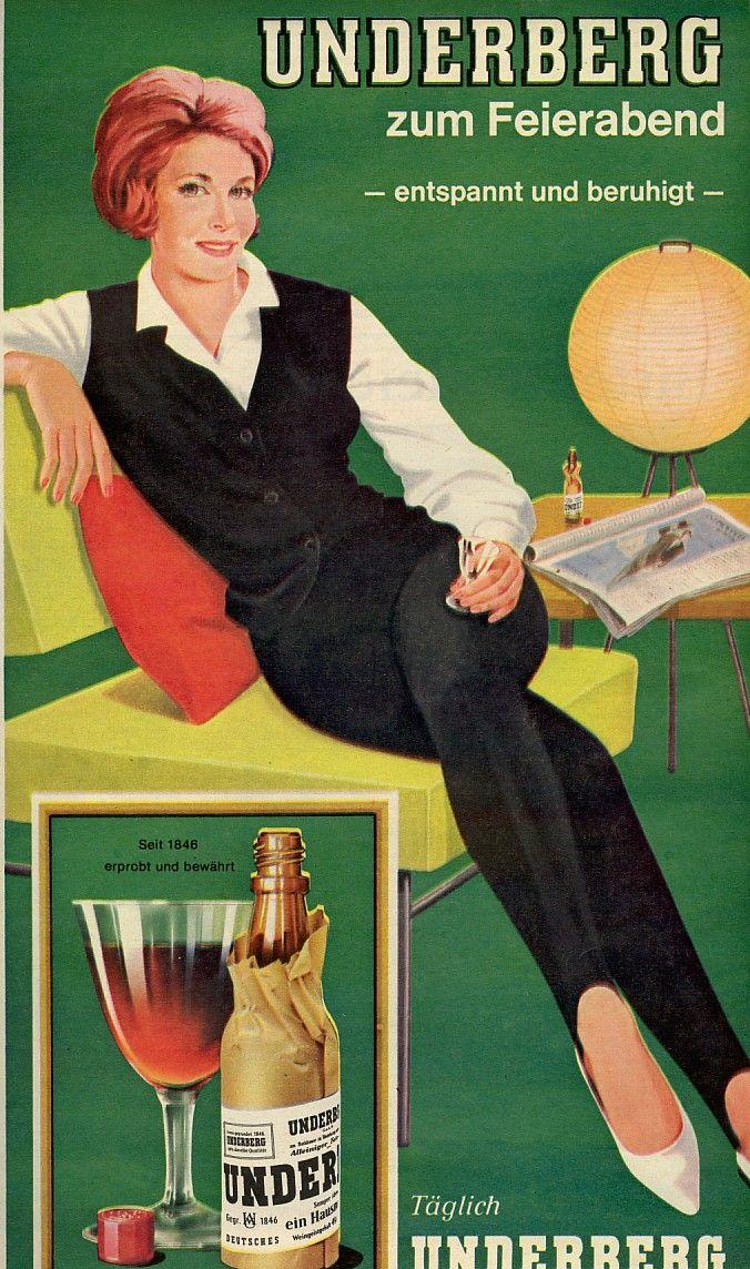 Underberg 1963 Als Das Trinken Von Hochprozentigem Noch Chic War Alte Werbung Werbung Werbeplakat