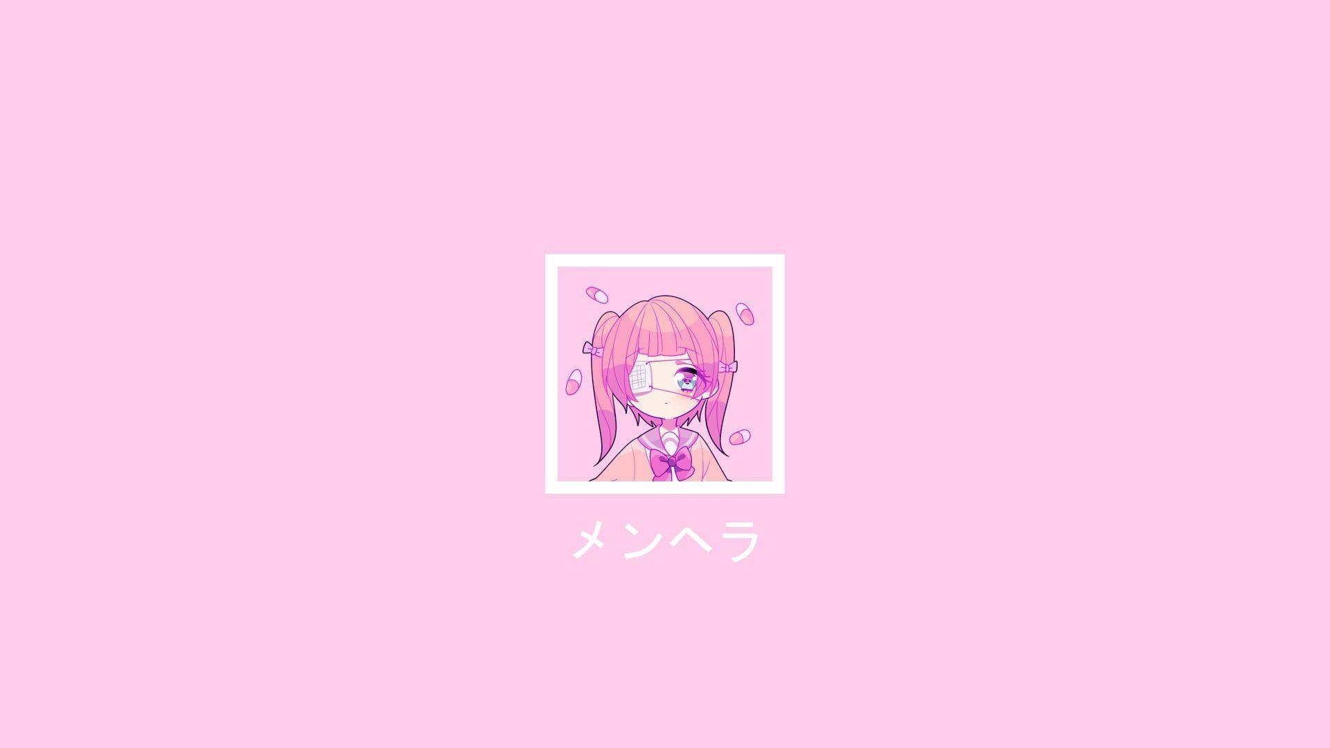Menhera Chan Simple Background Yami Kawaii 1080p Wallpaper Hdwallpaper Desktop In 2020 Kawaii Background Aesthetic Desktop Wallpaper Anime Wallpaper Iphone